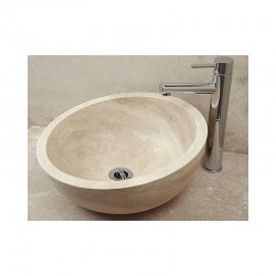 Style 1 Sloping Hand Crafted Natural Stone Bowl 42cm