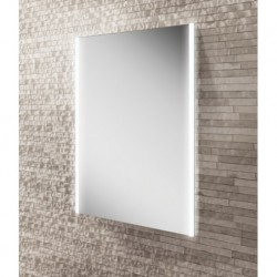 LED mirror with ambient lighting side lights