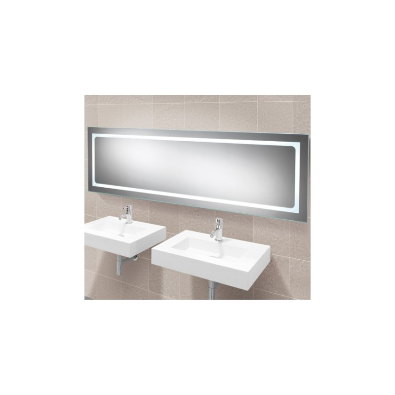 Buy Long Led Mirror With Ambient Lighting Side