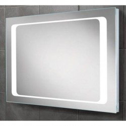 LED back-lit mirror with shavor socket.