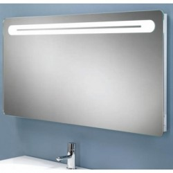 LED w 120 back-lit mirror with shaver socket.