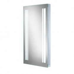 LED w 45 back-lit mirror with shaver socket.
