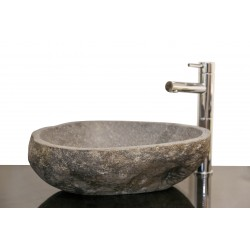 Style 5 Hand Crafted Rough Outer Granite Bowl (width 460mm depth 380mm height 150mm)£395each