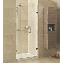 8mm Hinged Door with One In-Line Panel and Side Panel