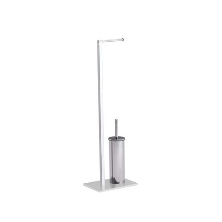 Square Free Standing Roll Holder with Toilet Brush