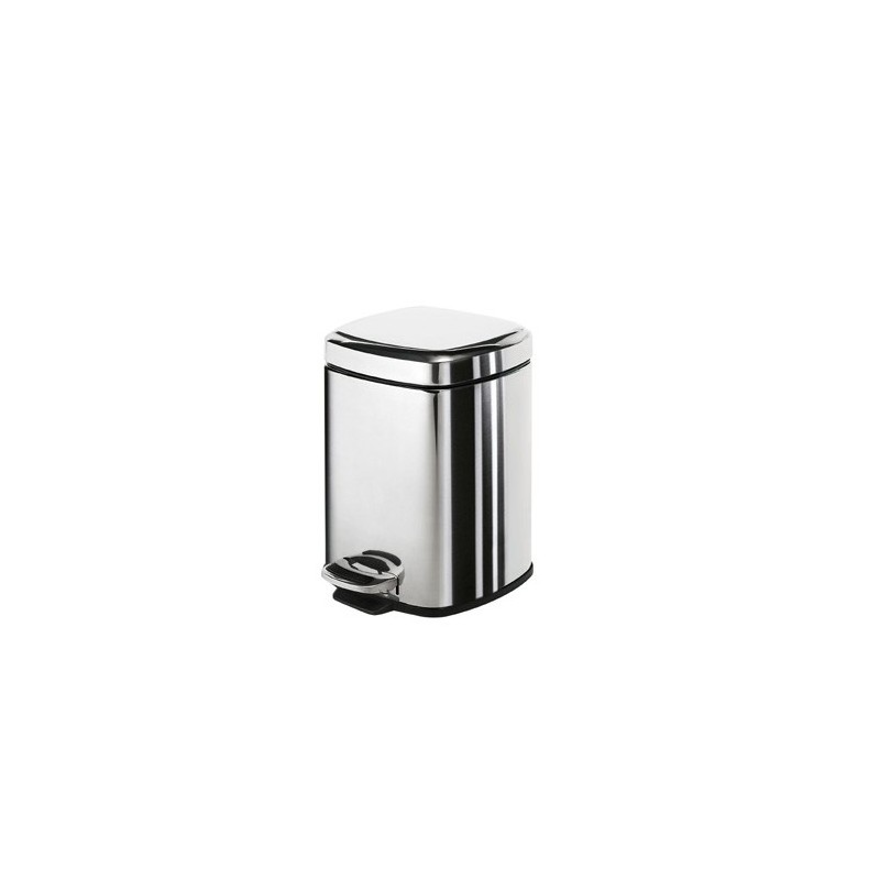 Square pedal bin 3 litre stonewood for Marble bathroom bin
