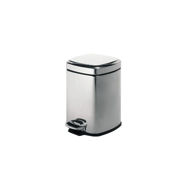Square pedal bin 5 litre stonewood for Stone bathroom bin