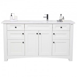 Henbury Multi Drawer Door Vanity Unit Curved Base