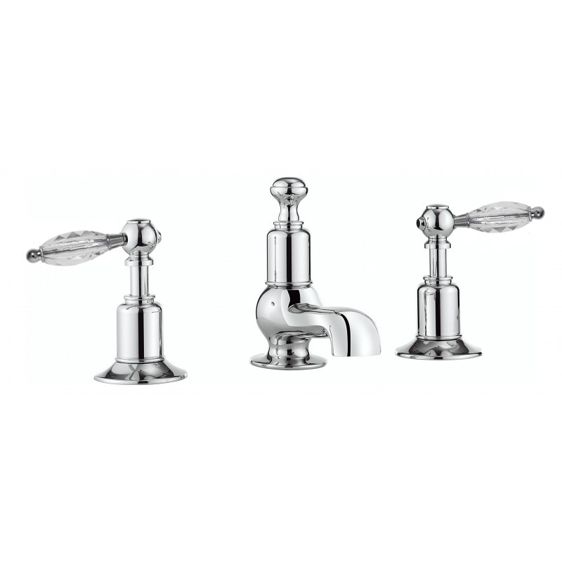 2xHenbury 3th Basin Set with Low Spout (Crystal Handles)inc wastes £485each