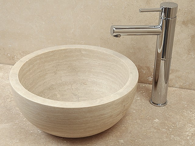 Style 5 Hand Crafted Natural Stone Bowl(Dia 350mm Height 150mm)£225