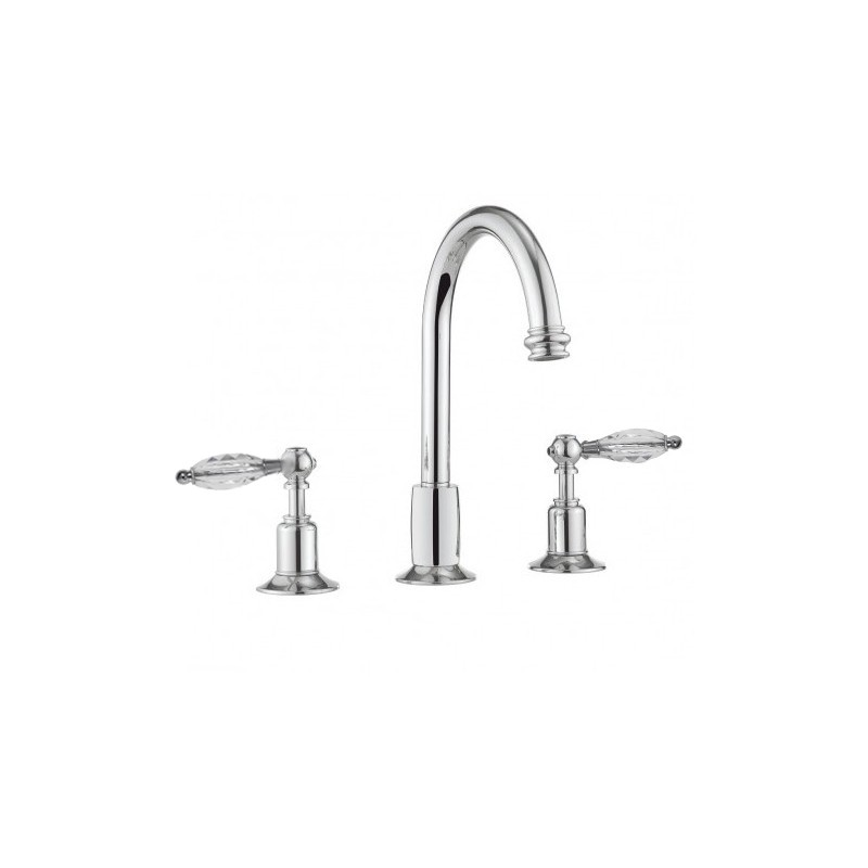 Henbury 3th Basin Set with High Spout (Crystal Handles)inc wastes £485each