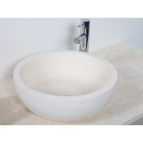 Style 5 Hand Crafted Natural Ice Beige Bowl(width 420mm height 150mm)£325each