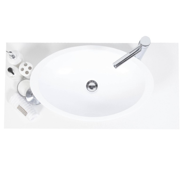 Madison White Oval Cast Stone Basin (width 600mm depth 360mm height 110mm) £295each
